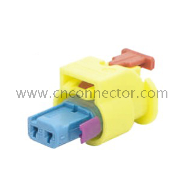 tyco amp replacement 2 pin yellow auto wire harness connector 1-1823608-4